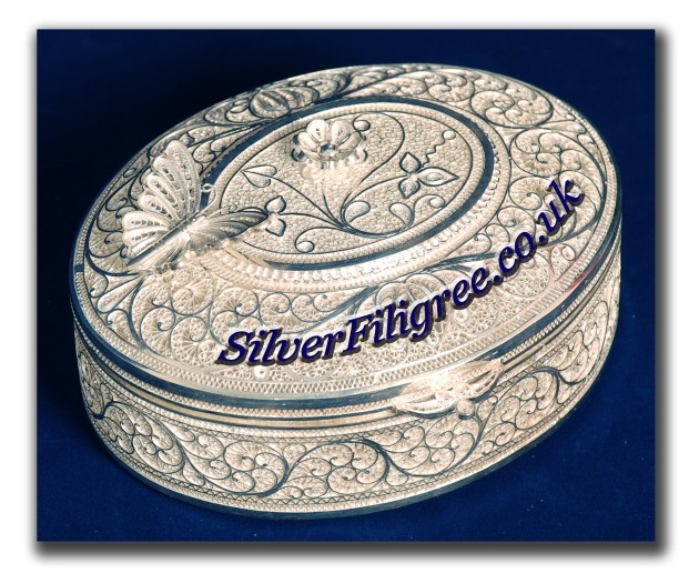 Silver Filigree Box