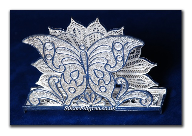 Silver Filigree ButterFly