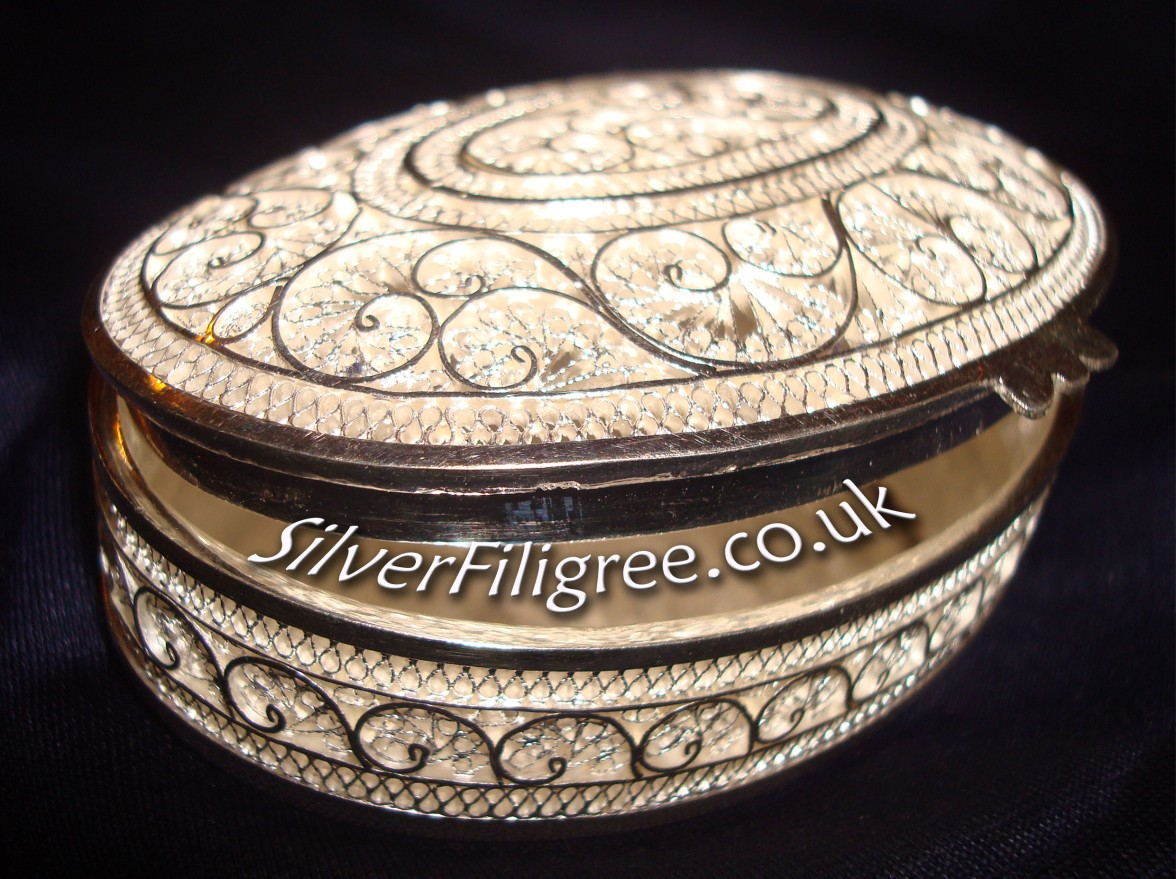 Silver Filigree Jewellery Box