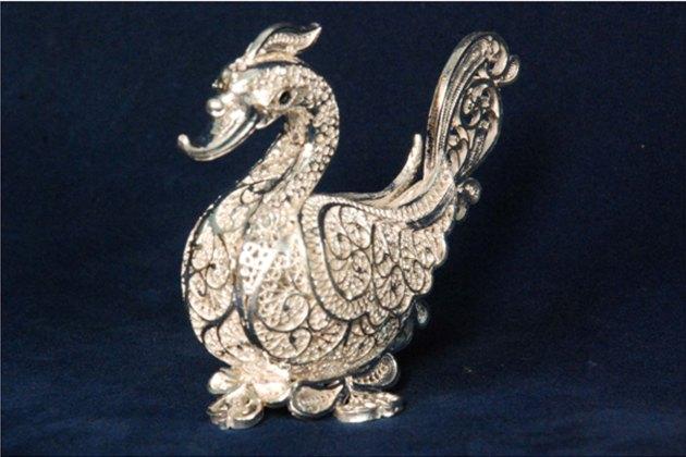 Silver Filigree Swan