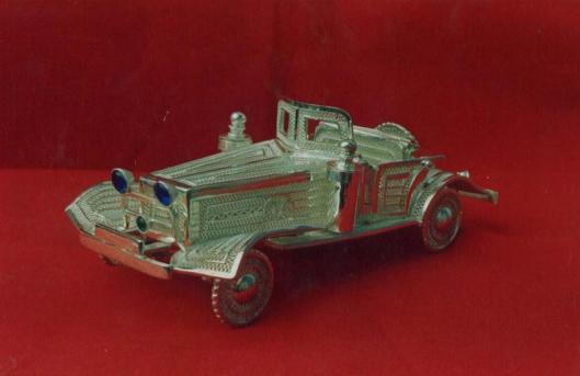Silver Filigree Car